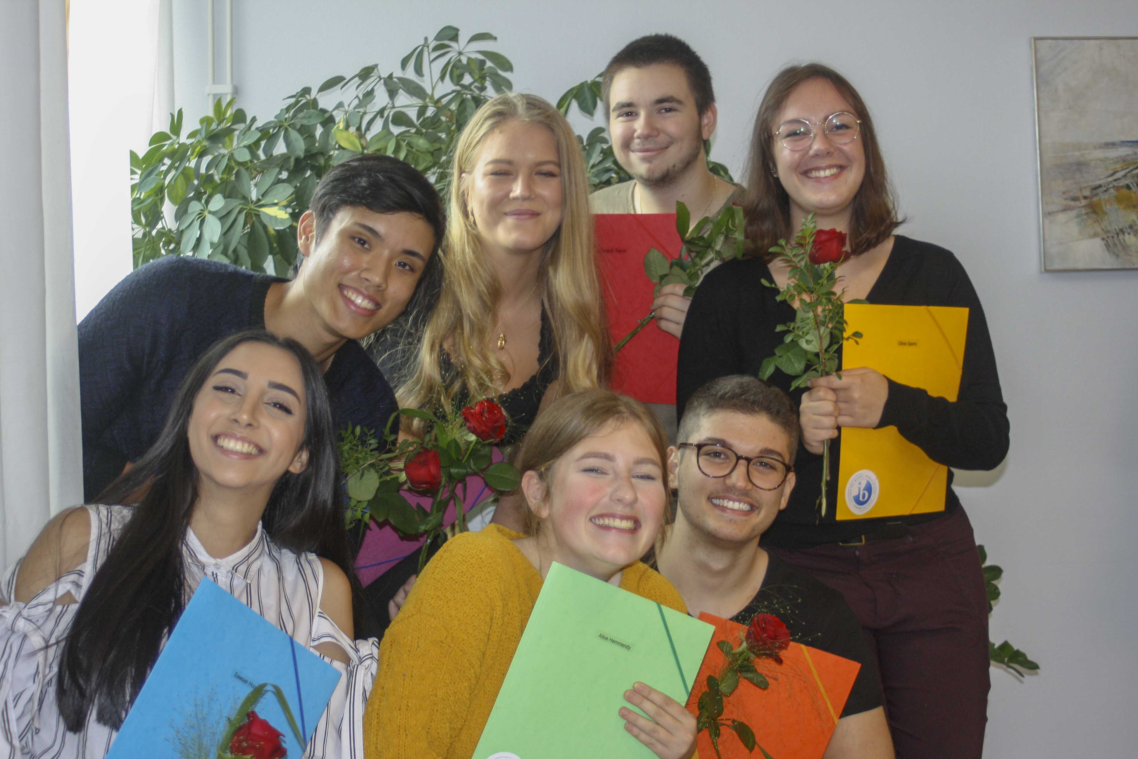 Seven out of fourteen came to the Diploma ceremony.